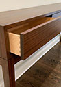 Console table with dovetail drawers