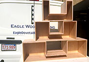 U-shaped dovetail drawers ready for delivery