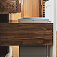 Custom dovetail drawer storage for pet food
